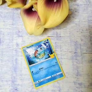 25th Anniversary McDonald's Squirtle Pokemon Card